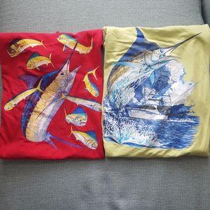 Lot of 2 Guy Harvey t-shirts